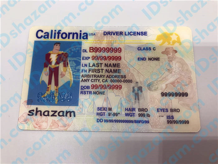 New California fake id 1
