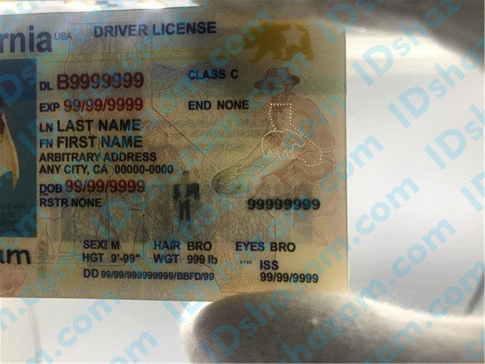 New California fake id 4