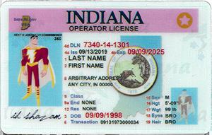 Indiana ID-IDshazam.com